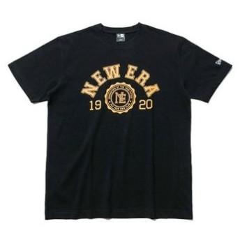 【セール】ニューエラ コットン Tシャツ カレッジ Sサイズ 11556791:ブラック/イエロー【返品不可】