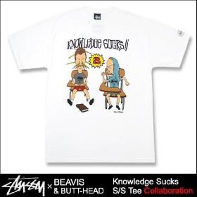 ステューシー STUSSY×BEAVIS & BUTT-HEAD Knowledge Sucks Tシャツ 半袖 コラボ(stussy tee ティーシャツ ビーバス・アンド・バットヘッド 3902248)