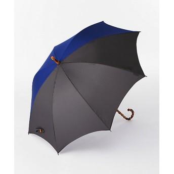 <ボンボンストア> バイカラー長雨傘 ブルーxグレー 【三越・伊勢丹/公式】
