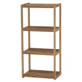 オープンシェルフ 木製 木製ラック 幅45cm 高さ95cm ライトブラウン 4段 ラック 収納棚 棚 シェルフ 本棚 オープンラック
