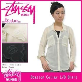 ステューシー STUSSY ウーマンズ Scallop Collar シャツ 長袖(stussy shirt ブラウス ガールズ レディース WOMENS 女性用 211039)