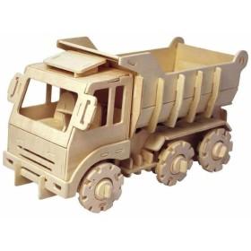 動く木製3Dパズルキット 車両 V430 ダンプトラック