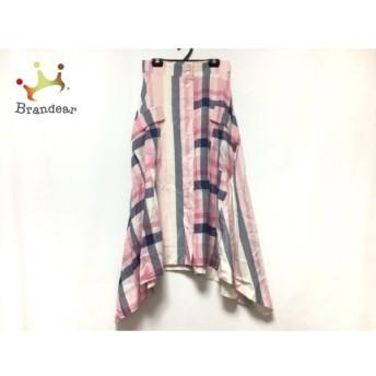 ドレステリア ロングスカート サイズ36 S レディース ピンク×ネイビー×白 チェック柄 スペシャル特価 20190903