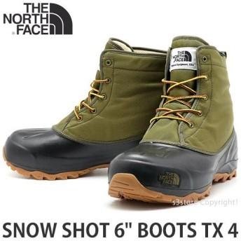 ザ ノース フェイス スノー ショット ブーツ THE NORTH FACE SNOW SHOT 6 BOOTS TX 4 靴 ヌプシ スノーシュー カラー:フィアグリーン