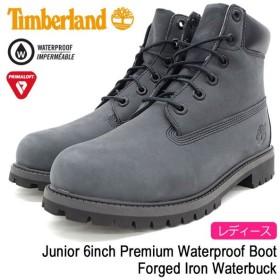 ティンバーランド Timberland ブーツ レディース対応サイズ ジュニア 6インチ プレミアム ウォータープルーフ Forged Iron Waterbuck(A1O7Q)