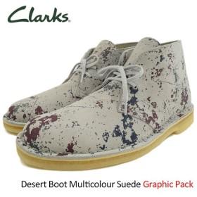 クラークス ブーツ CLARKS メンズ 男性用 デザート マルチカラー スエード グラフィックパック(Desert Boot Multicolour Suede 26118581)