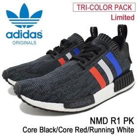 アディダス adidas スニーカー メンズ 男性用 ノマド R1 PK Core Black/Core Red/Running White オリジナルス(NMD R1 TRI-COLOR PACK BB2887)