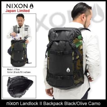 ニクソン nixon リュック ランドロック 2 バックパック ブラック/オリーブカモ 日本限定(Landlock II Backpack Black/Olive Camo NC1953047)
