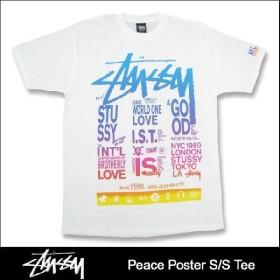 ステューシー STUSSY Peace Poster Tシャツ 半袖(stussy tee ティーシャツ メンズ 男性用 1902588)