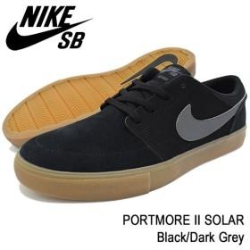 ナイキ NIKE スニーカー メンズ 男性用 SB ポートモア 2 ソーラー Black/Dark Grey SB(nike SB PORTMORE II SOLAR ブラック 880266-009)