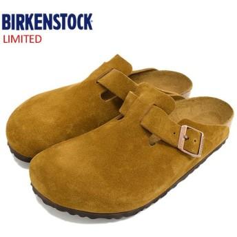 ビルケンシュトック サンダル BIRKENSTOCK メンズ 男性用 ボストン スエード レザー Brown 限定(BOSTON SUEDE LEATHER クロッグ GC060401)