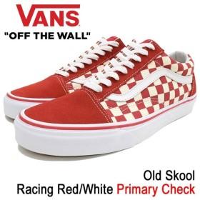 バンズ VANS スニーカー メンズ 男性用 オールドスクール Racing Red/White プライマリー チェック(VN-0A38G1P0T Old Skool Primary Check)