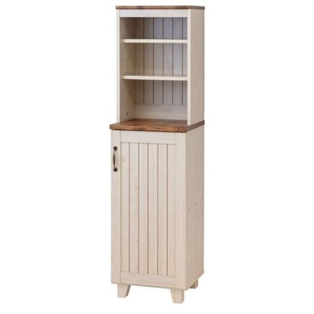 キャビネット サイドボード 戸棚 本棚 食器棚 カントリー 引出付 幅40cm 高さ151cm キッチン収納 食器収納 隙間棚 隙間 スリム キッチンボード