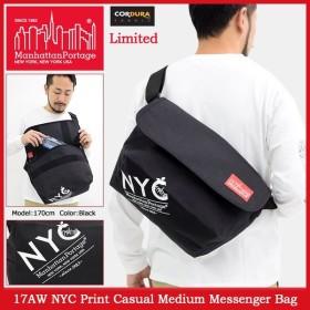 マンハッタンポーテージ Manhattan Portage メッセンジャーバッグ 17AW NYC プリント カジュアル ミディアム(Messenger MP1606JRNYC17AW)