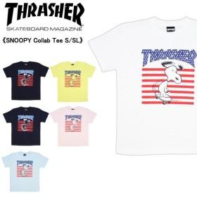 スラッシャー×ピーナッツ スヌーピー コラボTシャツ SNOOPY Collab Tee S/SL  thpn-sst002  メンズ 半袖 Tシャツ[AA-2]
