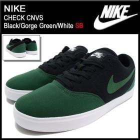 ナイキ NIKE スニーカー チェック キャンバス Black/Gorge Green/White SB メンズ(男性用) (nike CHECK CNVS SB 705268-031)