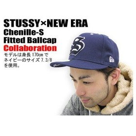 STUSSY(ステューシー)×NEW ERA Chenille-S Fitted Ballcap コラボ