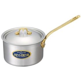 ノーブランド 商品コード:4822500 キングデンジ 深型片手鍋(目盛付)15cm