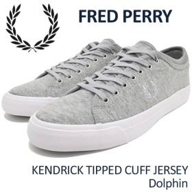 フレッドペリー FRED PERRY スニーカー メンズ 男性用 ケンドリック ティップ カフ ジャージー Dolphin(B1151-432 KENDRICK TIPPED CUFF)
