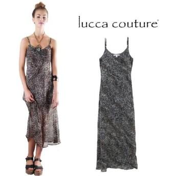ルッカクチュール ワンピース マキシワンピース キャミワンピ ロング 夏 春 リゾート 大人 大きいサイズ 半袖 シフォン Lucca Couture