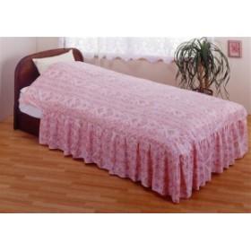 【日本製 ベッド用掛カバー】お部屋の印象が変わる!?フリル付ベッド用掛布団カバー シングルピンク