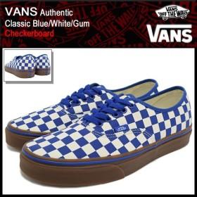 バンズ VANS スニーカー メンズ 男性用 オーセンティック Classic Blue/White/Gum チェッカーボード(VN-0004MKIC5 Authentic Checkerboard)