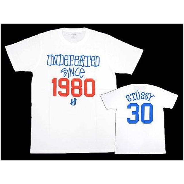 ステューシー STUSSY×UNDEFEATED 30th Anniversary Tシャツ 半袖 コラボ(stussy tee アンディフィーテッド 30周年記念 メンズ 男性用 0900016)