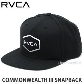ルーカ スナップバック RVCA COMMONWEALTH III SNAPBACK スケートボード サーフィン 帽子 サイズ調節可能 コーディネート Col:BLK