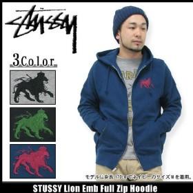 ステューシー STUSSY Lion Emb ジップアップ パーカー(stussy hoodie パーカーフーディ トップス Zip メンズ 1972929)