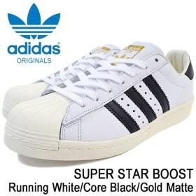 アディダス adidas スニーカー メンズ 男性用 スーパースター ブースト Running White/Core Black/Gold Matte オリジナル(SUPER STAR BB0188)