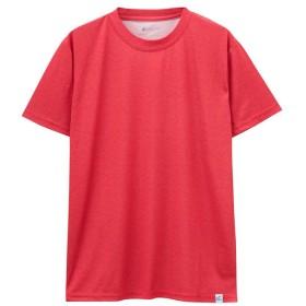 マックハウス SARARI UPF50+杢Tシャツ 24433454 メンズ レッド XL 【MAC HOUSE】