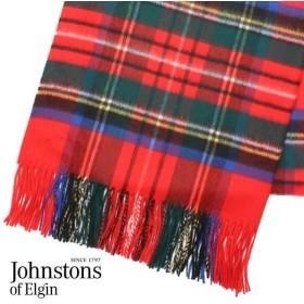 JOHNSTONS ジョンストンズ カシミア ストール 大判 タータンチェック ロイヤルスチュワート 190×70cm WA000056-KU0303  『送料無料』