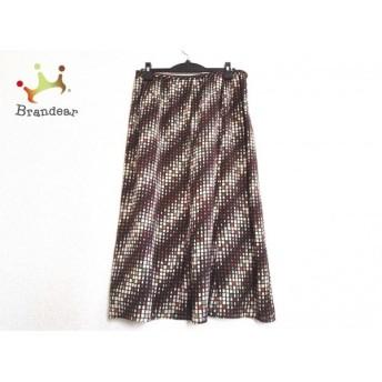 レリアン スカート サイズ13 L レディース ダークブラウン×アイボリー×マルチ ロング丈 スペシャル特価 20190907