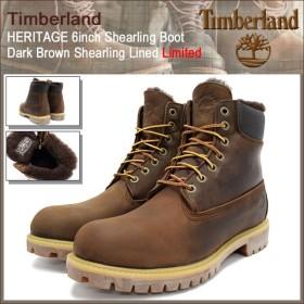 ティンバーランド Timberland ブーツ メンズ ヘリテイジ 6インチ シャーリング ダークブラウン シャーリング ラインド 限定(9664B HERITAGE)