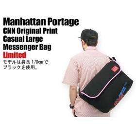 Manhattan Portage(マンハッタンポーテージ) CNN Original Print Casual Large Messenger Bag Limited メッセンジャーバッグ