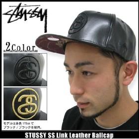 ステューシー STUSSY キャップ SS Link Leather キャップ(stussy Stussy cap キャップ メンズ・男性用 帽子 bousi 131258)