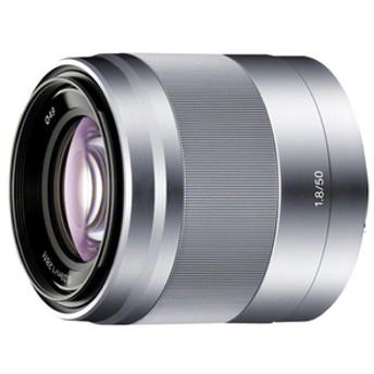 SONY中望遠レンズE 50mm F1.8 OSSシルバーSETSEL50F18