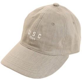 【SALE/送料無料】【Super Sports XEBIO & mall店:帽子】リネン刺繍キャップ USC 897PA9ST1701 KHK