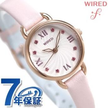 【あす着】セイコー ワイアード エフ レディース 腕時計 パステルカラー ピンク AGEK443 SEIKO WIRED f 革ベルト