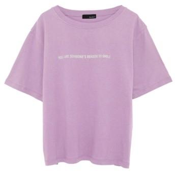 Re: EDIT オーガニックコットン半袖ロゴTシャツ ラベンダー