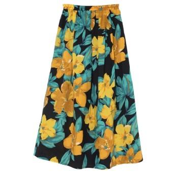 Re: EDIT リゾート花柄ロングフレアスカート ブラック