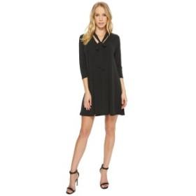 アメリカンローズ レディース ワンピース トップス Mia Tie-Front 3/4 Sleeve Keyhole Dress Black