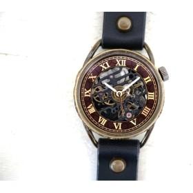 メカニックブラック AT Mサイズ ブラック 真鍮 手作り腕時計