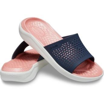 【クロックス公式】 ライトライド スライド LiteRide Slide ユニセックス、メンズ、レディース、男女兼用 ブルー/青 22cm slide スライドサンダル スポーツサンダル シャワーサンダル サンダル