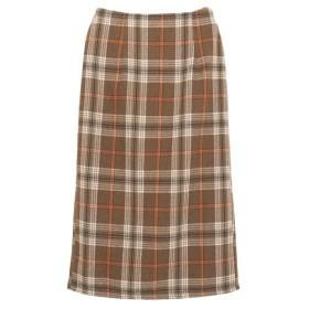Re: EDIT カラーチェックタイトスカート キャメル