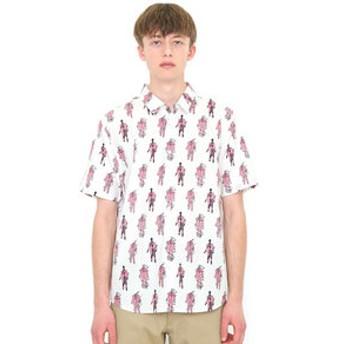 【グラニフ:トップス】シャツ/イメージズオブイリュージョンパターン(福田繁雄マルチパターンショートスリーブシャツ)