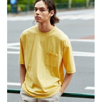 ジュンレッド/ステッチシャーベットカラーT-shirt/イエロー/S