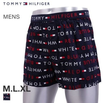 【メール便(30)】 (トミー・ヒルフィガー)TOMMY HILFIGER WOVEN LOGO トランクス メンズ 前あき