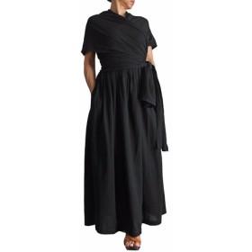 コットンラッピングゴムシャーリングドレス(DNN-073)