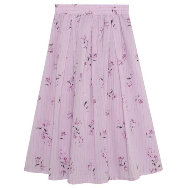 Re: EDIT 花柄×ストライプフレアスカート ピンク
